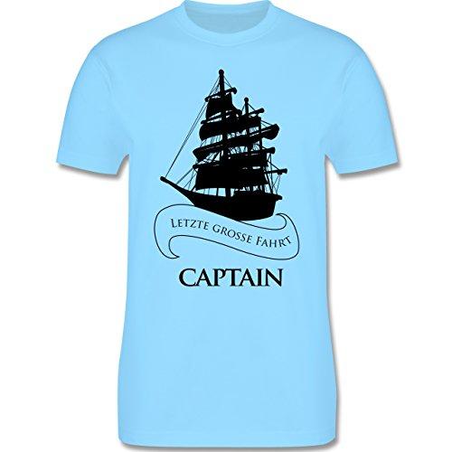 JGA Junggesellenabschied - Captain Letzte große Fahrt - Herren Premium T-Shirt Hellblau