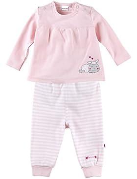 Bornino Schlafanzug 2-tlg. Set/Baby Basics/Langarmshirt/Hose/Schäfchen-Print/rosa