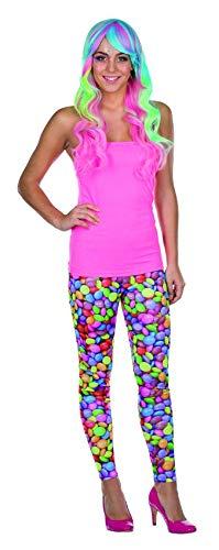 Rubie's Leggings Schokolinsen Größe 40 Damen Karneval Zirkus Kostüm - Candy Clown Kostüm