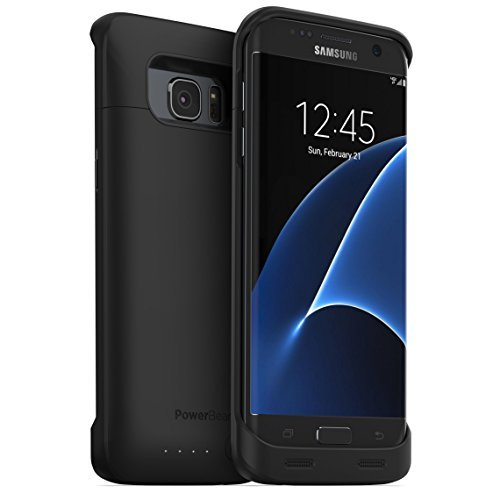 PowerBear Samsung Galaxy S7 Edge Battery Case [5,000 mAh] High Capacity External Battery Charger for the Galaxy S7 Edge (Up to 1.5X Extra Battery) Black [24 Month Warranty] – NOT FOR THE GALAXY S7