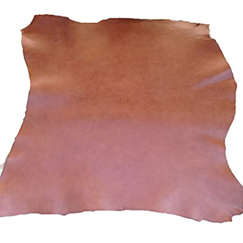 Genuine Italian Full Grain Leather Saddle Hide Tan