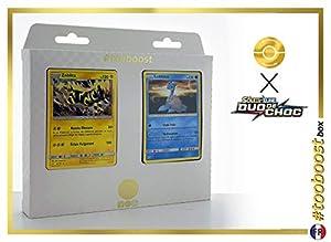 Zéblitz (Zebstrika) 45/181 Y Lokhlass (Lapras) 31/181 - #tooboost X Soleil & Lune 9 Duo de Choc - Box de 10 Cartas Pokémon Francés + 1 Goodie Pokémon