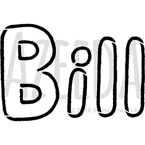 Groß A2 'Bill' Wandschablone / Vorlage (WS00024381)