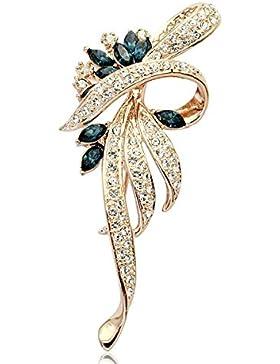 Serie Shape FZHLYNatural Broche De La Flor Con Los Diamantes Para Las Mujeres