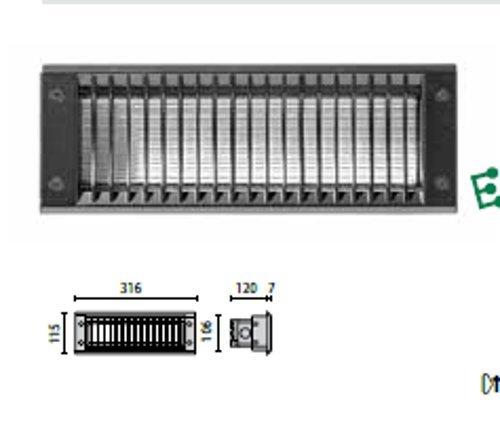 PLAFONIERA INSERT2FV 18W 2G11 NERO PRISMA 7369