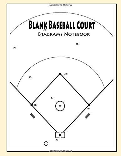 Blank Baseball Court Diagrams Notebook: 120 Full Page Baseball Court Diagrams for Drawing Up Plays, Drills, and Scouting: Practice Drills and ... Coach Court Diagrams to Draw Game Plays