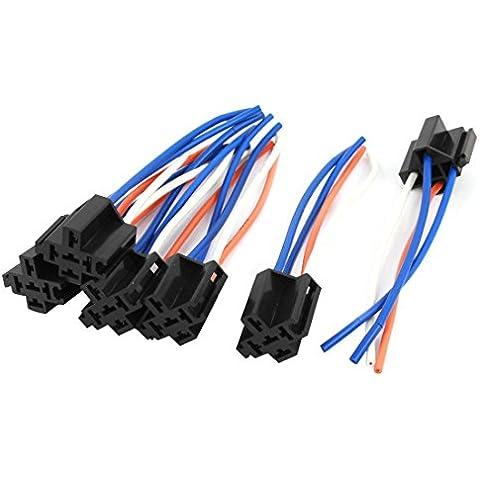 Auto Cable de alambre de arnés de relé de alarma 4Pin Socket de alambre conector 6pcs