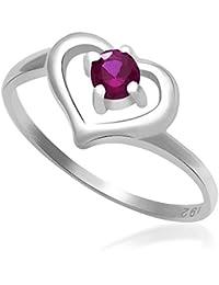 e3df2b084 Taraash 925 Sterling Silver CZ Heart Shape Finger Ring For Women  CBFRBX_02LI-01