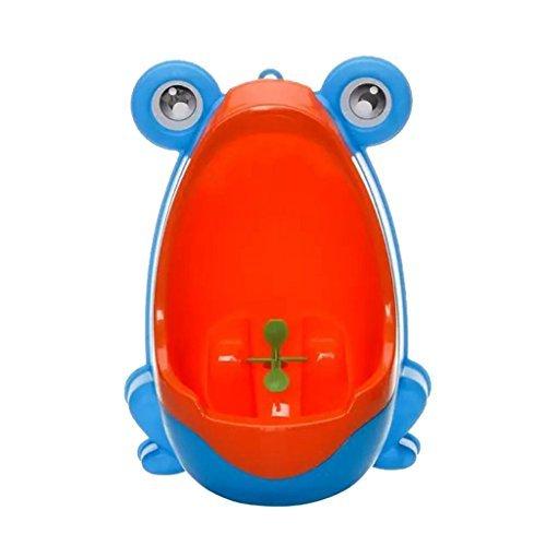 ZN-Vasino a forma di rana per bambini, per imparare a usare il WC-orinatoio Pee Trainer per bambini da bagno blu - Blu Potty