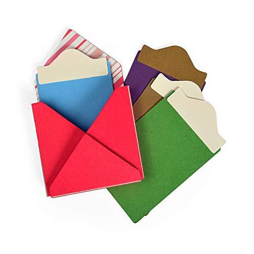 Sizzix 663637 Gift Card Folder & Label #2 by Eileen Hull Stanzschablonen, Mehrfarben, Einheitsgröße -