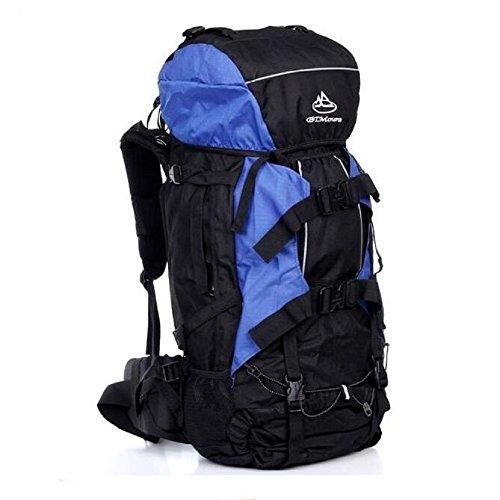 80L OUTDOOR Rucksack Extra Laden Tasche Wandern Camping Reise blau