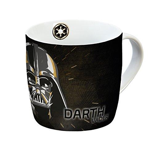 STAR WARS Taza Darth Vader 300ml Porcelana Taza de Porcelana, Negro de Oro, 11,5x 9x 8,5cm