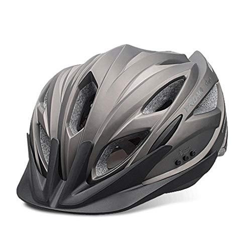 DGF Casque Bluetooth Smart Riding Former Bicyclette Vélo Casque de Vélo de Sécurité Gear Musique Casque Band Casque Hommes et Femmes Code (Couleur : Gray)
