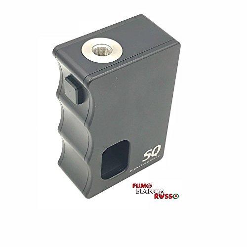 SQ Mod - Signature box meccanica per sigaretta elettronica, lamelle in argento con guaina,attaco 510 a filo e corpo in alluminio, disponibile in diversi colori (black/black)