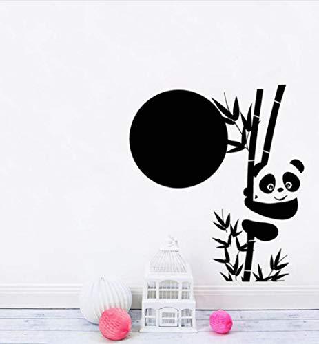 YANGSHUANG Große Panda Bambus Vinyl Wandaufkleber Für Kinderzimmer Niedlichen Tier Asiatischen Aufkleber Einzigartige Kinderzimmer Dekor Wandtattoo Wandbild Kunst 110x124 cm -