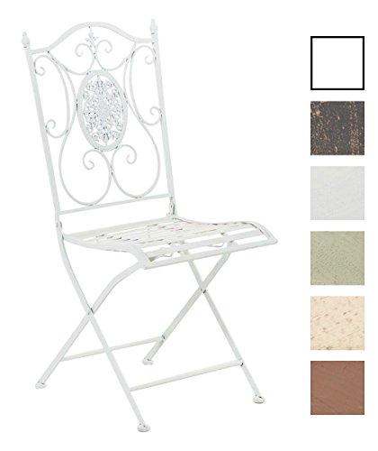 Sedie Da Esterno Design.Clp Sedia In Ferro Da Giardino Sibell Sedia Richiudibile In