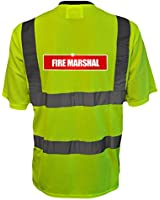 Reflective Fire Marshal High Visibility Hi Vis Viz T Shirt Safety T-Shirt