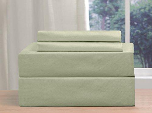 Madison massiv Kopfkissenbezug Set, 55% Baumwolle/45% Polyester, Jade, Standard -