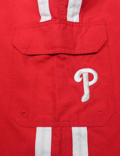 MLB Hommes Philadelphia Phillies Shorts de sport athlétiques avec des aliments nager Red