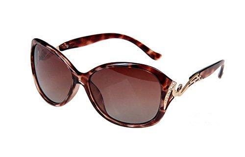 Gespout occhiali da sole da donna alla moda occhiali da sole polarizzati bicolore telaio grande modello del diamante occhiali di protezione uv occhiali da sole da spiaggia,marrone scuro