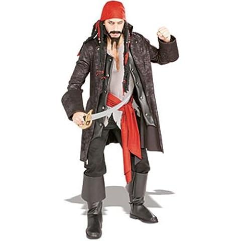 Rubie's - Disfraz de capitán pirata para adulto (talla estándar)