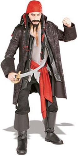 Imagen de rubie's  disfraz de capitán pirata para adulto talla estándar