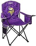 Coleman NFL Kühler Quad klappbarer Tailgating- & Campingstuhl mit eingebautem Kühler und Tragetasche (alle Team-Optionen), NFL Cooler Quad Chair, Minnesota Vikings, Einheitsgröße