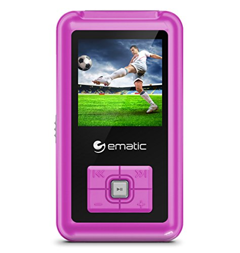Ematic MP3-/Video-Player mit FM-Tuner Rose (Ematic Mp3-player)