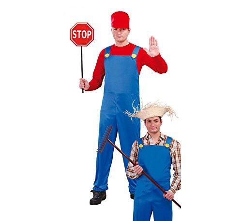 Imagen de disfraz de maquinista de tren y granjero 2 en 1 para hombre
