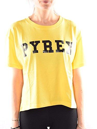 Pyrex Shirt Donna Maglia Corta 33820 Giallo
