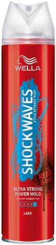 Wella Shockwaves Power Hold Lack ultra strong, 3er Pack (3 x 250 ml)