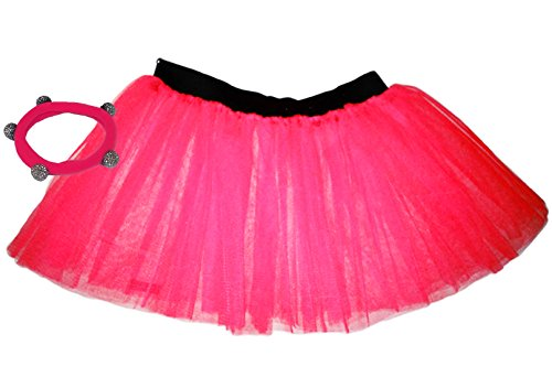 84c1b95f1 A-Express® Neon Pink Tutu Skirt 1x Shamballa Fits Adult Plus Size (18 to 24)