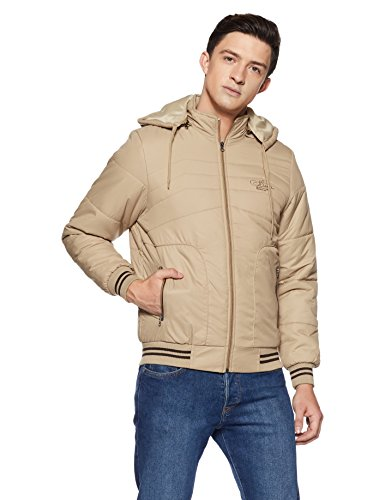 Qube by Fort Collins Men's Bomber Jacket (14649_M_Camel)