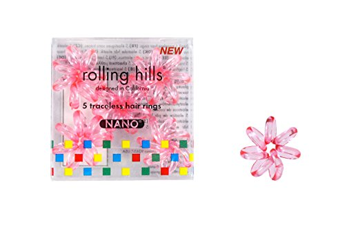 Rolling Hills - Hair Rings Nano transparent pink (Rolling Ring)