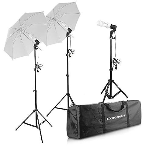 Excelvan 600W Studio Umbrella Softbox Continuous Lighting Kit -2x33