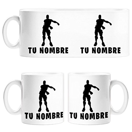 Taza Fortnite pose Floss baile Backpack Kid personalizable con nombre - Cerámica