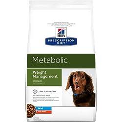 Hill's Prescription Diet Canine METABOLIC Petite Race Gestion du Poids Nourriture pour Chien Croquettes 6kg Poulet