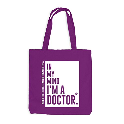 Jutebeutel - In my mind I'm a doctor - Style Words Magenta