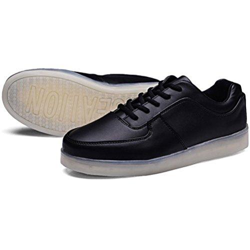 (Present:kleines Handtuch)JUNGLEST® 7 Farbe USB Aufladen LED Leuchtend Sport Schuhe Sportschuhe High Top Sneaker Turnschuhe für Unisex-Erwa c6