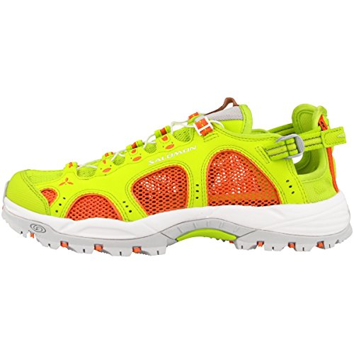Salomon Damen Techamphibian 3 W Trail Runnins Sneakers, Blau, Einheitsgröße Grün (Lime Punch./Living Coral/White)