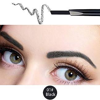 ANIFER Impermeable Negro Lápiz de Cejas Retráctil Automático Larga Duración Lápiz de Ojos Peine Cepillo Maquillaje Herramienta Cosmética (Negro/Black # 1)