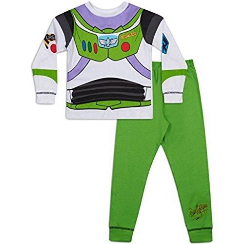 Story Kleinkind Kostüm Toy - Jungen Toy Story Buzz LightYear Oder Woody Verkleidung Schlafanzug 18-24m 2-3y 3-4y 4-5y 5-6y - Buzz, Jungen, 86-92