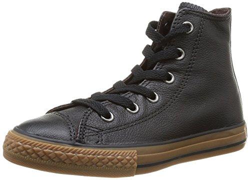 384280 Junior Wintage Noir Schwarz Chuck Leather Converse 8 Hi Taylor Unisex Kinder Sneaker ntqYxwCE