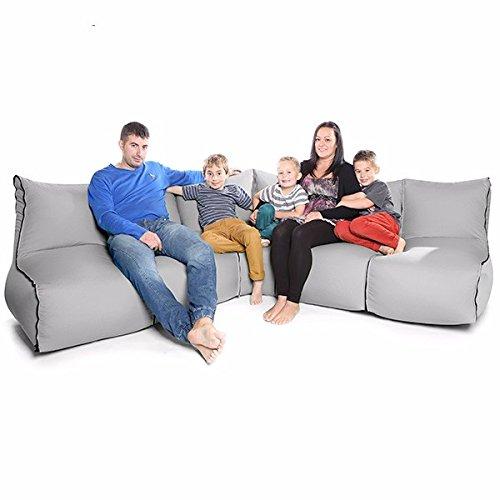 Bean bag sedia modulare confortevole zip2 6 pezzo-platino