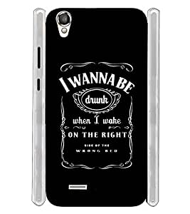 Drunk Quotes Typography Soft Silicon Rubberized Back Case Cover for Xolo A550S IPS