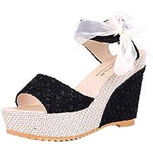 Sandalias y Chancletas de tacón Alto Plataforma para Mujer 55da1b4e99dc