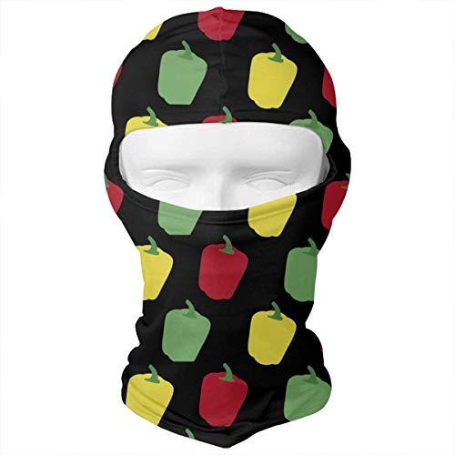 Preisvergleich Produktbild Aeykis Bell Pepper Vegetable Funny Pattern Balaclava Face Mask Headwear Helmet Liner Gear Full Face Mask Hood Ski Mask