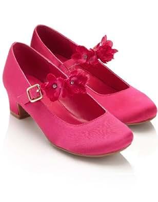 Monsoon Filles Chaussures de danse à brides ornées de fleurs incrustées de strass Taille Chaussures 24 Rose