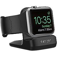 Support Apple Watch, Spigen [Station de Chargement][Prime TPU] Support Apple Watch Compatible avec Apple Montre mode Nightstand pour Apple Watch Series (2015), Apple Watch Series 2(2016), Apple Watch Series 3(2017), Apple Watch Sports, Support de montre Apple - S350 Noir