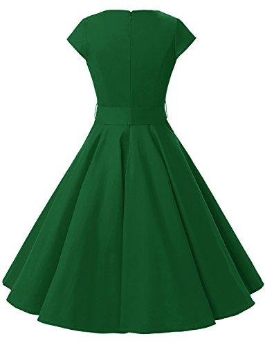 Dressystar Damen Rockabilly 50er Jahre Kleid Swing in Grün - 4